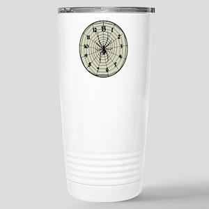 13 Hour Spiderweb Clock Stainless Steel Travel Mug