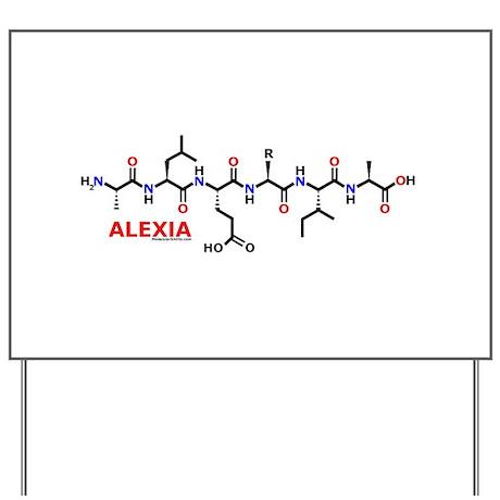 Alexia name molecule Yard Sign