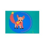 Fox Rectangle Magnet (100 pack)