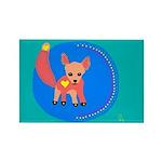 Fox Rectangle Magnet (10 pack)