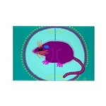 Opossum Rectangle Magnet (100 pack)