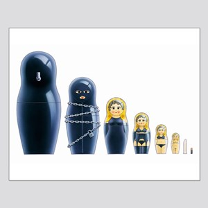 Fetish Russian Dolls Small Poster