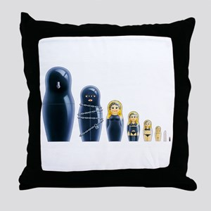 Fetish Russian Dolls Throw Pillow