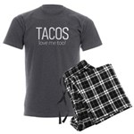 Tacos Love Me Too Men's Charcoal Pajamas