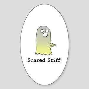 Scared Stiff Oval Sticker
