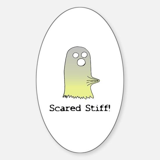 Scared Stiff Oval Decal