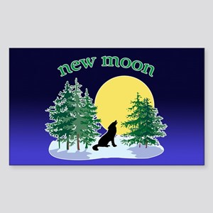 New Moon Howl Rectangle Sticker