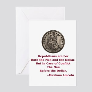 Seated Liberty Dollar -- Linc Greeting Card