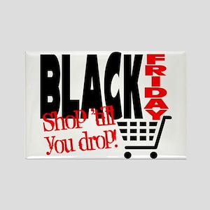 Black Friday Shopping Cart Rectangle Magnet