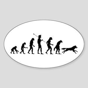 Werewolf Evolution Oval Sticker