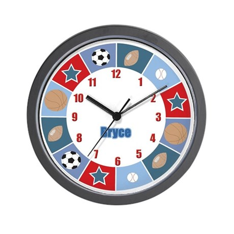 BRYCE Sports Wall Clock