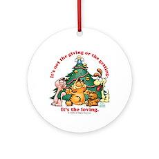 IT'S THE LOVING Garfield Ceramic Ornament