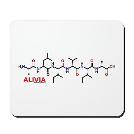 Alivia name molecule Mousepad