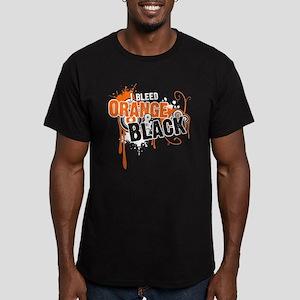 Orange & Black Men's Fitted T-Shirt (dark)