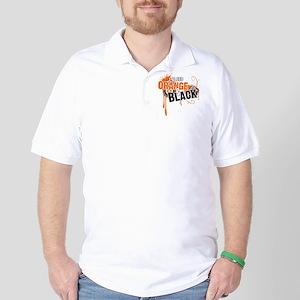 Orange & Black Golf Shirt