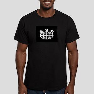 asr_world_logo_media Men's Fitted T-Shirt (dark)