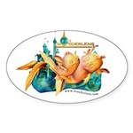 Luna Sleeper Oval Sticker