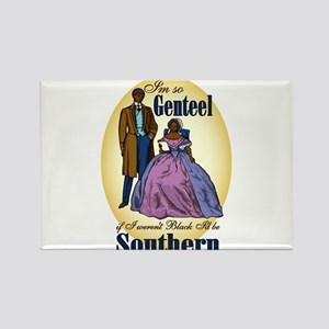 Genteel and Southern Rectangle Magnet
