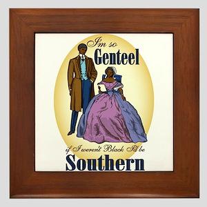 Genteel and Southern Framed Tile