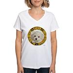 Maltese Puppy Women's V-Neck T-Shirt