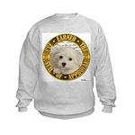 Maltese Puppy Kids Sweatshirt