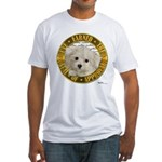 Maltese Puppy Fitted T-Shirt