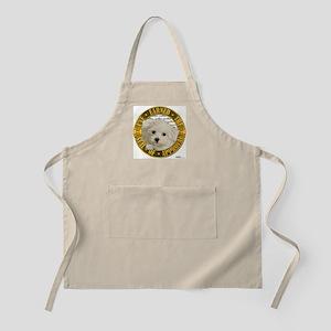 Maltese Puppy BBQ Apron