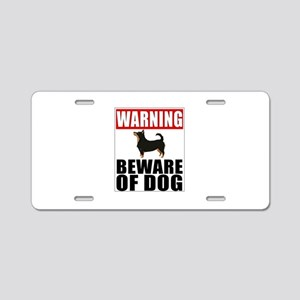 Warning Lancashire Heeler B Aluminum License Plate