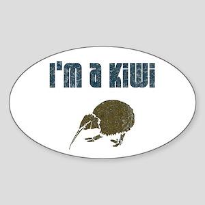 I'm a Kiwi Oval Sticker