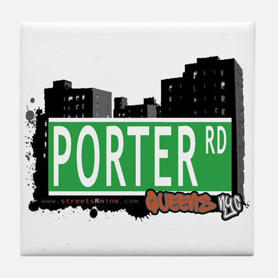 PORTER ROAD, QUEENS, NYC Tile Coaster