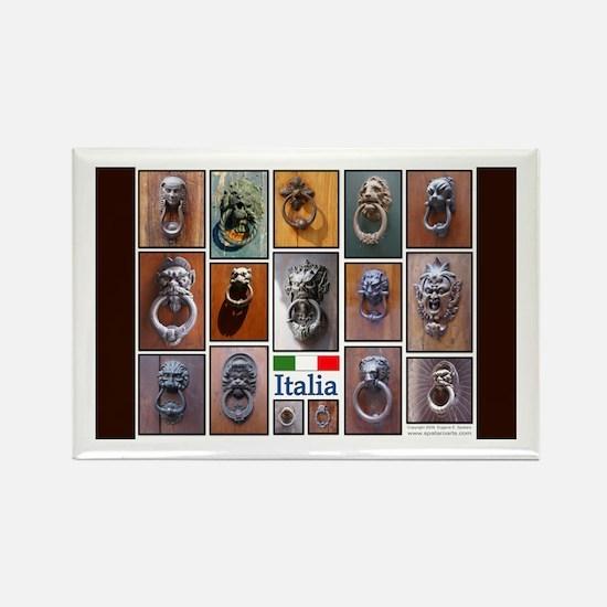 Doorknockers of Italy Rectangle Magnet