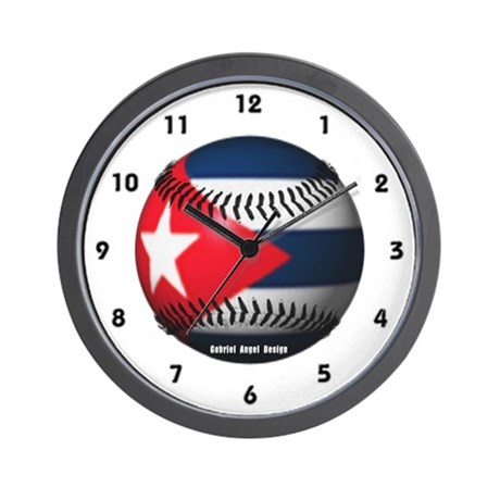 Cuban Baseball Wall Clock