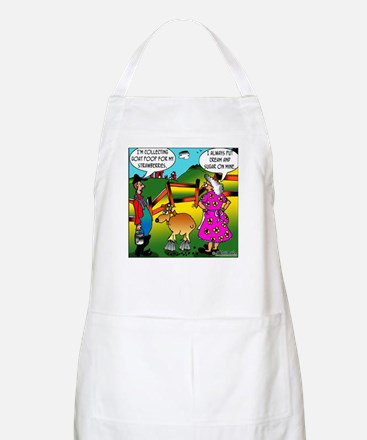 Cream & Goat Poop on Strawberries BBQ Apron