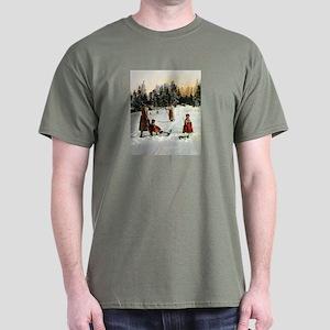 Costumed Sledding Dark T-Shirt
