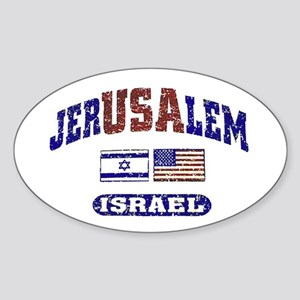 Yom Yerushalayim Oval Sticker