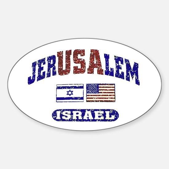 Yom Yerushalayim Oval Decal