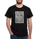 Celtic Knotwork Heart Black T-Shirt