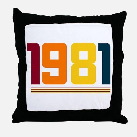 1981 Throw Pillow