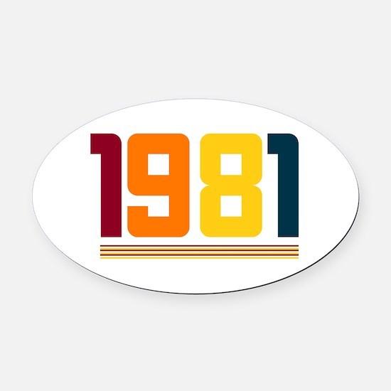 1981 Oval Car Magnet