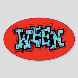 Ween Oval Sticker