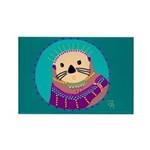 Otter Rectangle Magnet (100 pack)