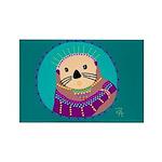 Otter Rectangle Magnet (10 pack)