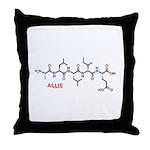Allie name molecule Throw Pillow