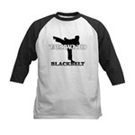 TaeKwonDo Black Belt Kids Baseball Jersey