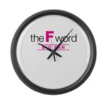 The F Word Large Wall Clock