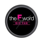 The F Word Wall Clock