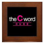 The C Word Framed Tile