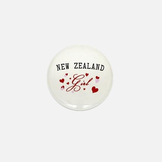 New Zealand Girl Mini Button