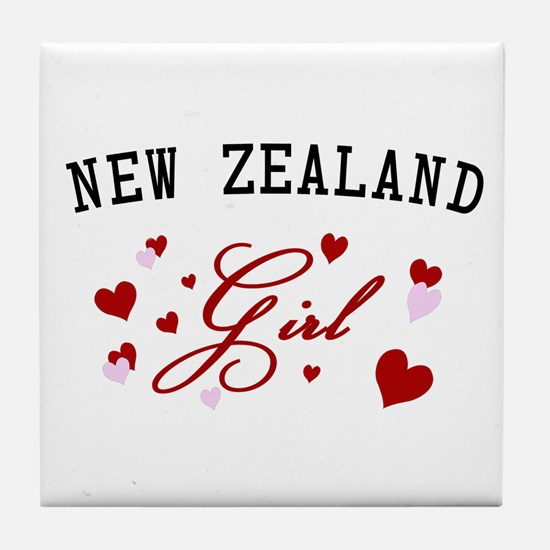 New Zealand Girl Tile Coaster