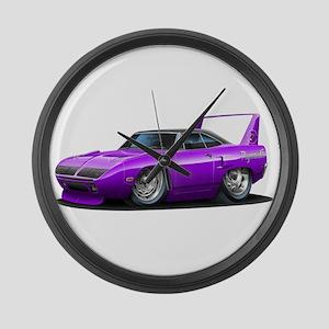 Superbird Purple Car Large Wall Clock